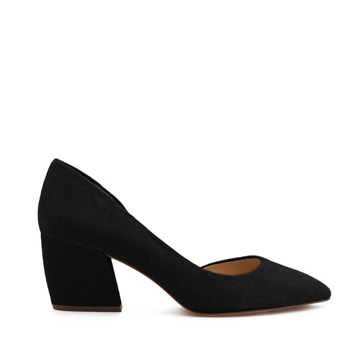 botkier sena d'orsay low heel almond toe pump in black