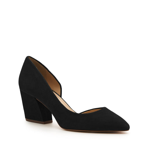 botkier sena d'orsay low heel almond toe pump in black Alternate View