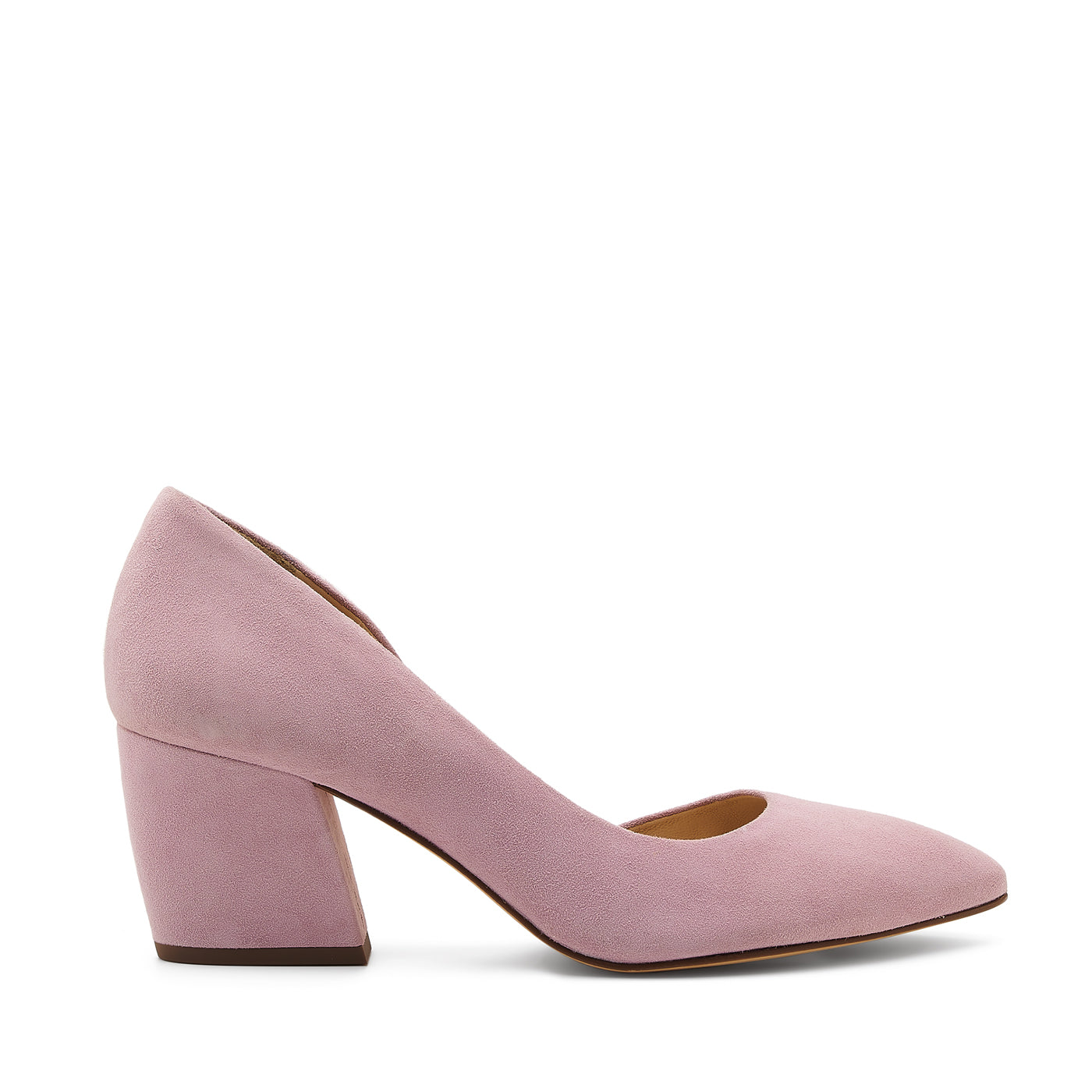 botkier sena d'orsay low heel almond toe pump in lavender purple