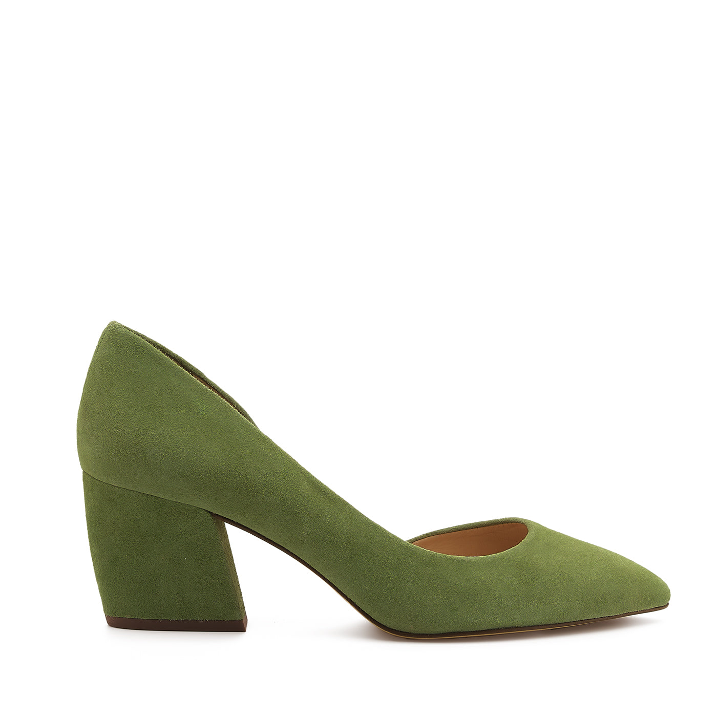 botkier sena d'orsay low heel almond toe pump in matcha green