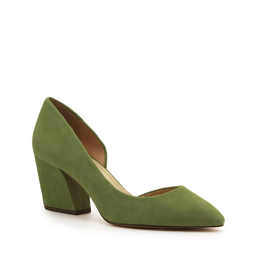 botkier sena d'orsay low heel almond toe pump in matcha green Alternate View