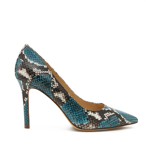botkier marci almond toe pump in aqua blue snake