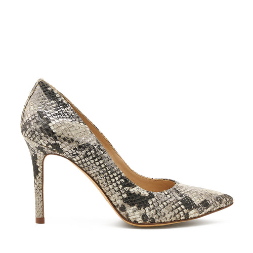 botkier marci almond toe pump in metallic snake