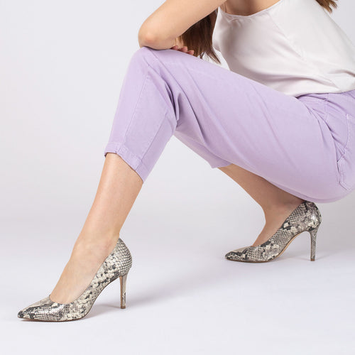 botkier marci almond toe pump in metallic snake Alternate View