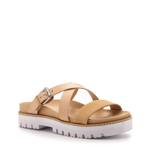 botkier jupiter footbed slide in natural and biscuit brown Alternate View