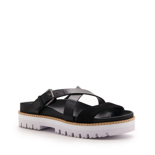 botkier jupiter footbed slide in natural and black Alternate View