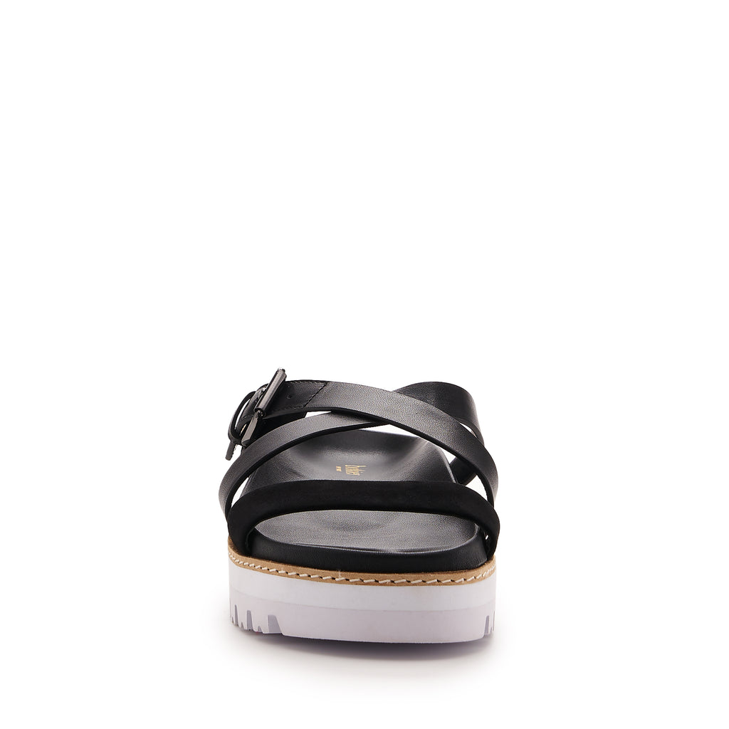 botkier jupiter footbed slide in natural and black