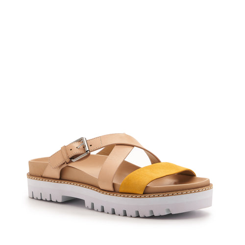 botkier jupiter footbed slide in natural and sunshine yellow Alternate View