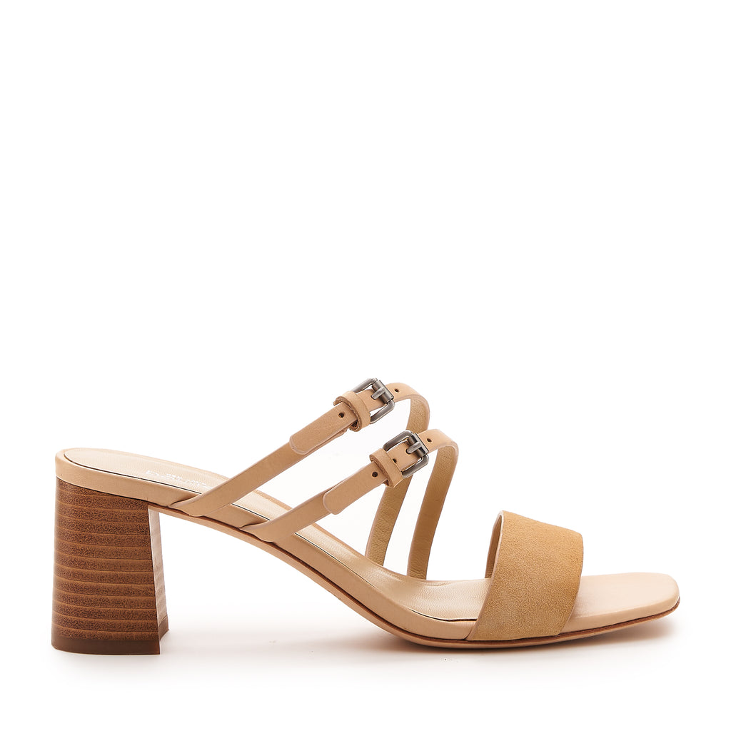 21bbc6aecc87 Dune Low Heel Sandal (Biscuit) - Women s NYC Designer Leather Shoes ...