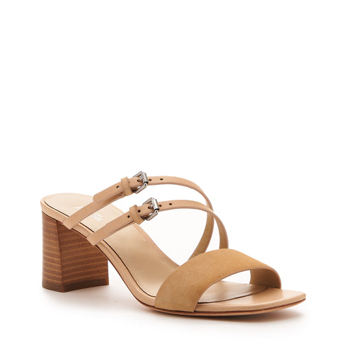 botkier dune low heel strappy sandal in natural and biscuit brown Alternate View