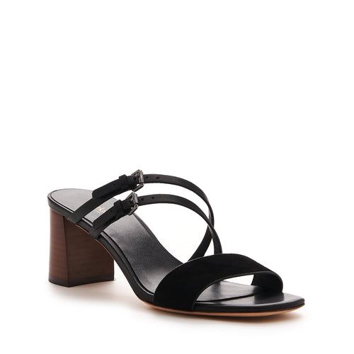 botkier dune low heel strappy sandal in natural and black Alternate View