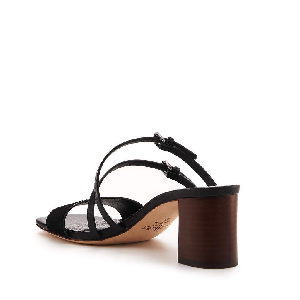 botkier dune low heel strappy sandal in natural and black