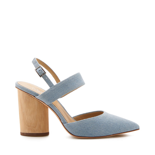 botkier halle pointed toe mary jane heel in blue wash denim