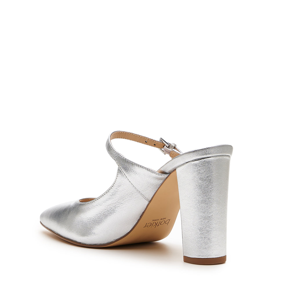 botkier hannah mary jane mule in silver