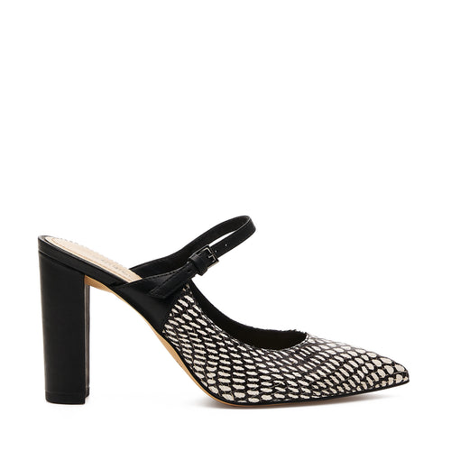 botkier hannah mary jane mule in black white snake