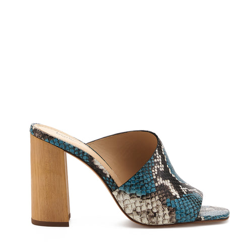 botkier ross d'orsay open toe mule heel in aqua blue snake