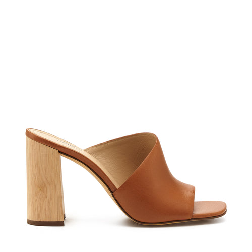 botkier ross d'orsay open toe mule heel in camel brown