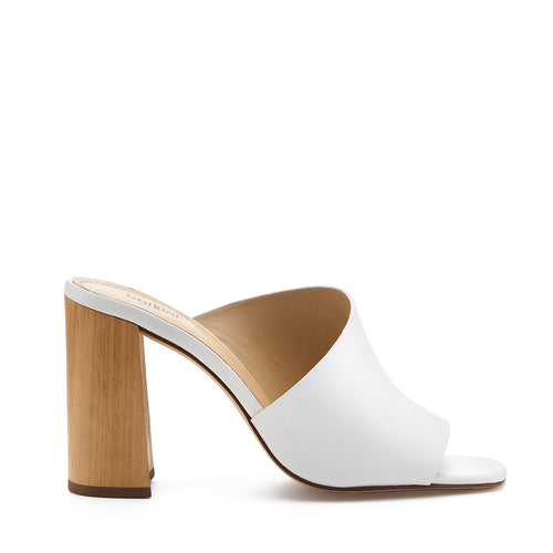 botkier ross d'orsay open toe mule heel in white