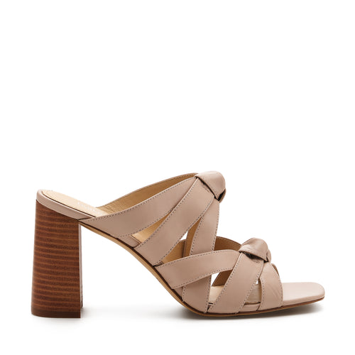 raffe multi strap mule almond side