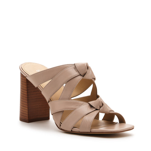 raffe multi strap mule almond side Alternate View