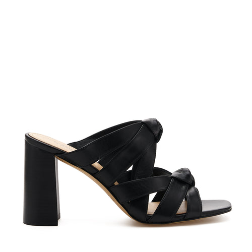 raffe multi strap mule black side