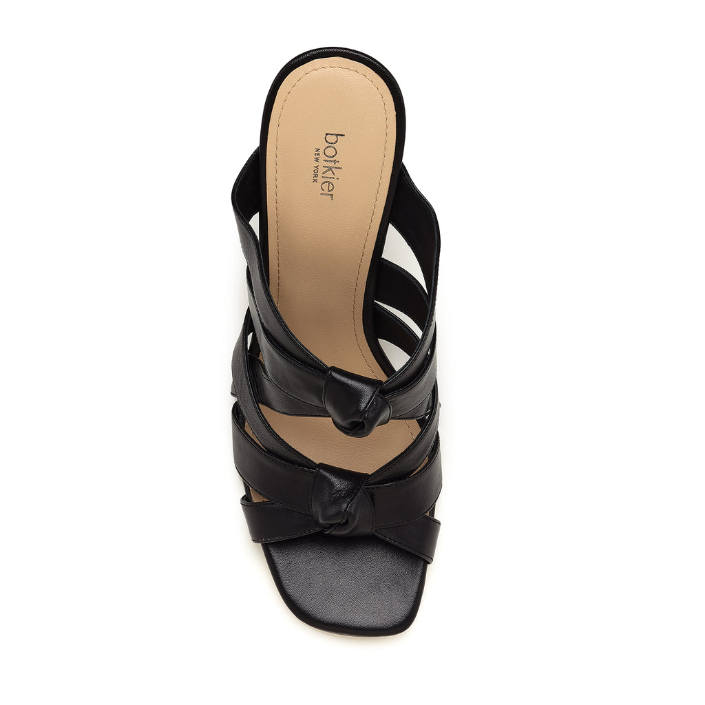 raffe multi strap mule black top