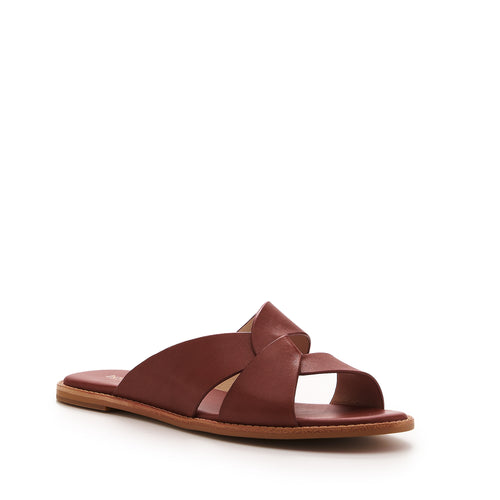 botkier zuri twist flat slide sandal in cognac brown Alternate View