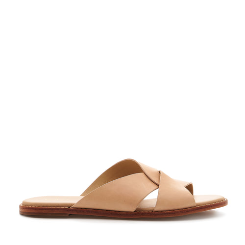 botkier zuri twist flat slide sandal in natural