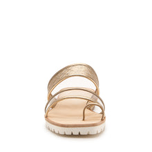 maje slide pale gold front