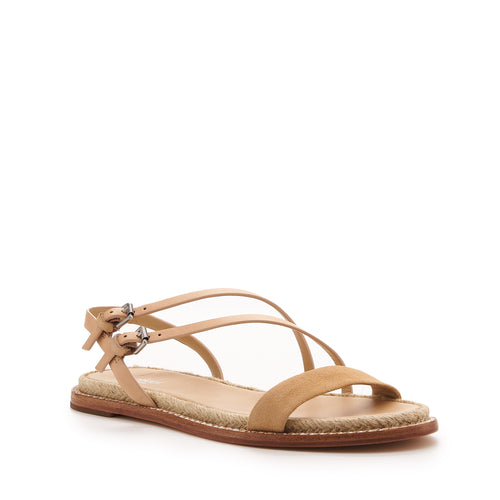 botkier island flat strappy sandal in vachetta and biscuit brown Alternate View