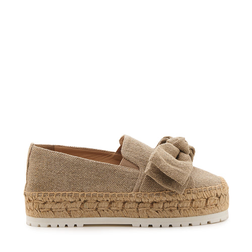 botkier wesley espadrille with bow in natural canvas