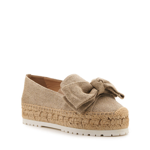 botkier wesley espadrille with bow in natural canvas Alternate View