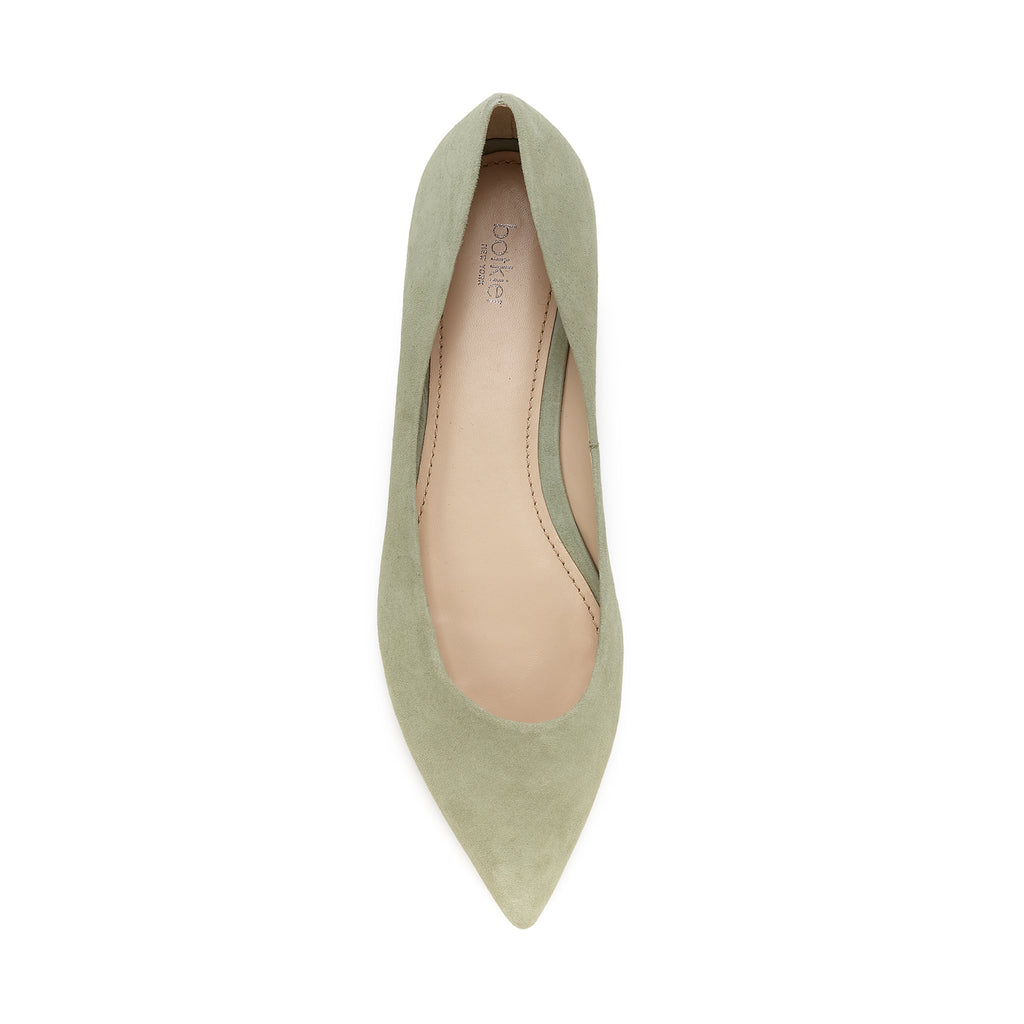botkier annika pointed toe flat in olive green
