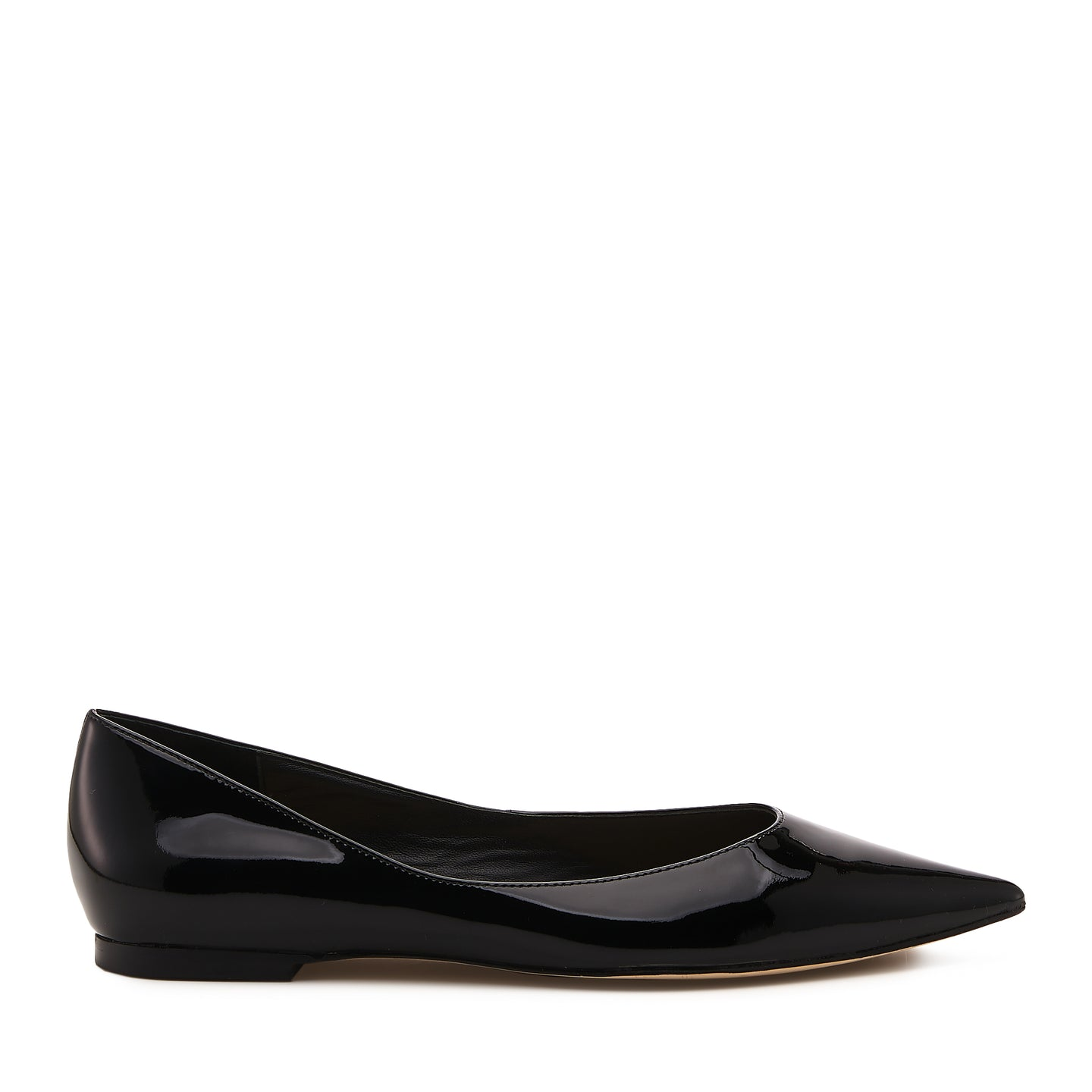 annika flat black patent side