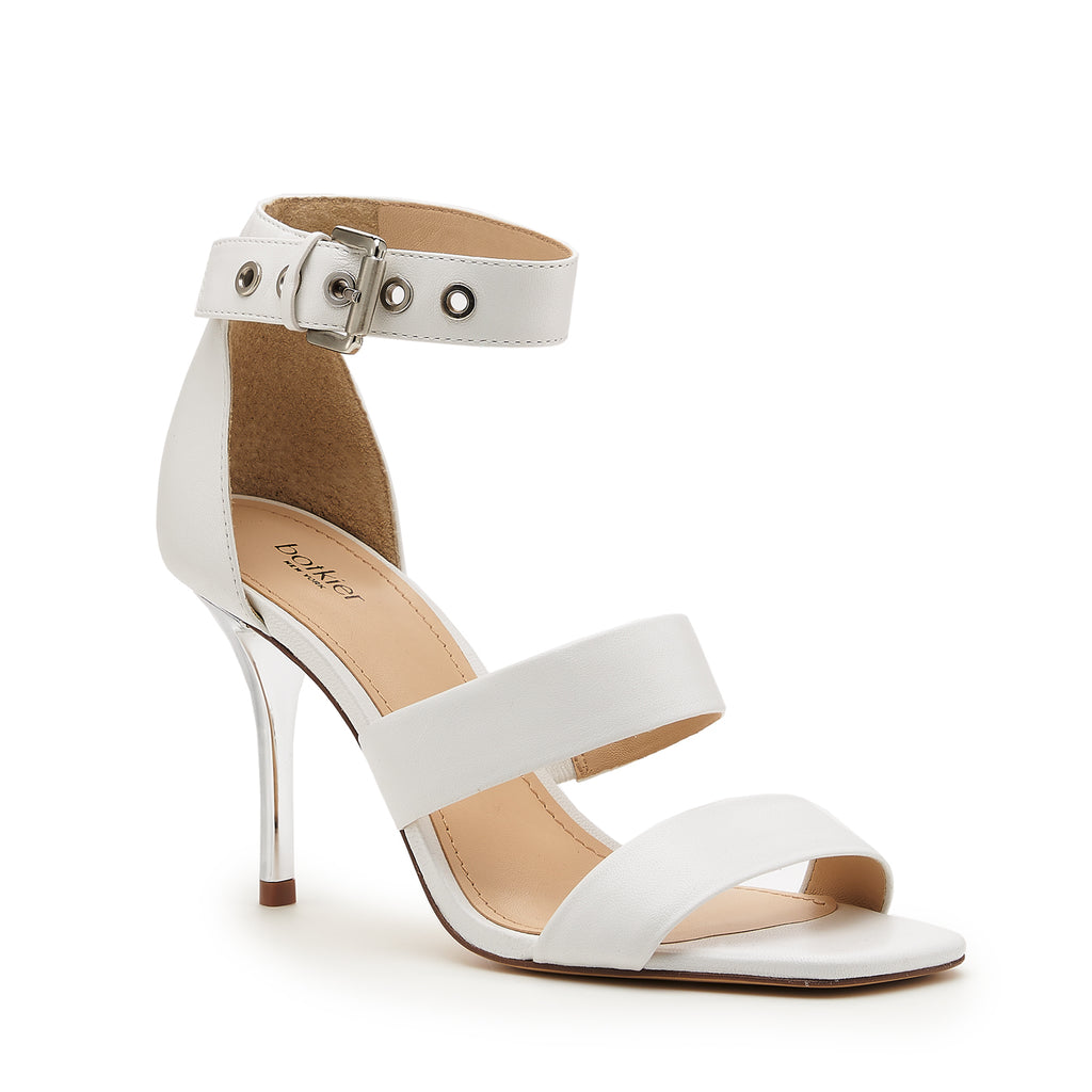 lorri heel sandal in white