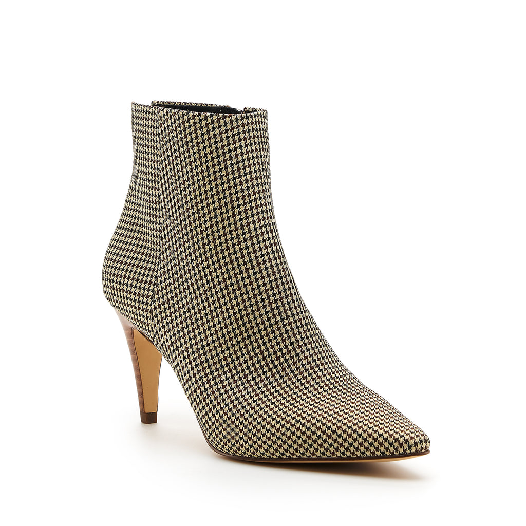 botkier teagan bootie houndstooth front angle