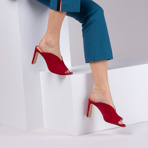 botkier emily heel mule in cherry red Alternate View