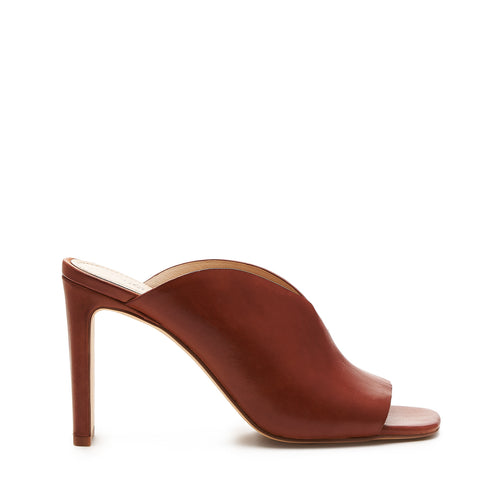 botkier emily heel mule in cognac brown
