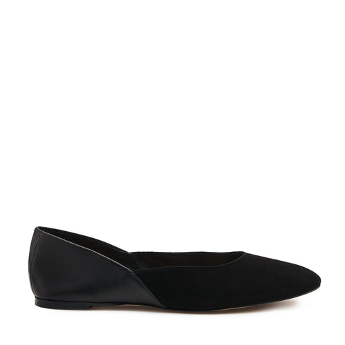 botkier britt round toe flat in black