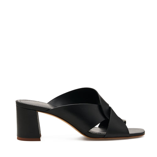 botkier ulla cross strap low heel mule in black