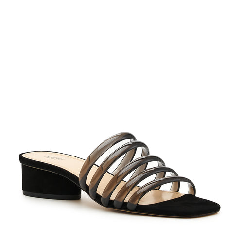 botkier yani slip on sandal in black with black jelly multi straps Alternate View