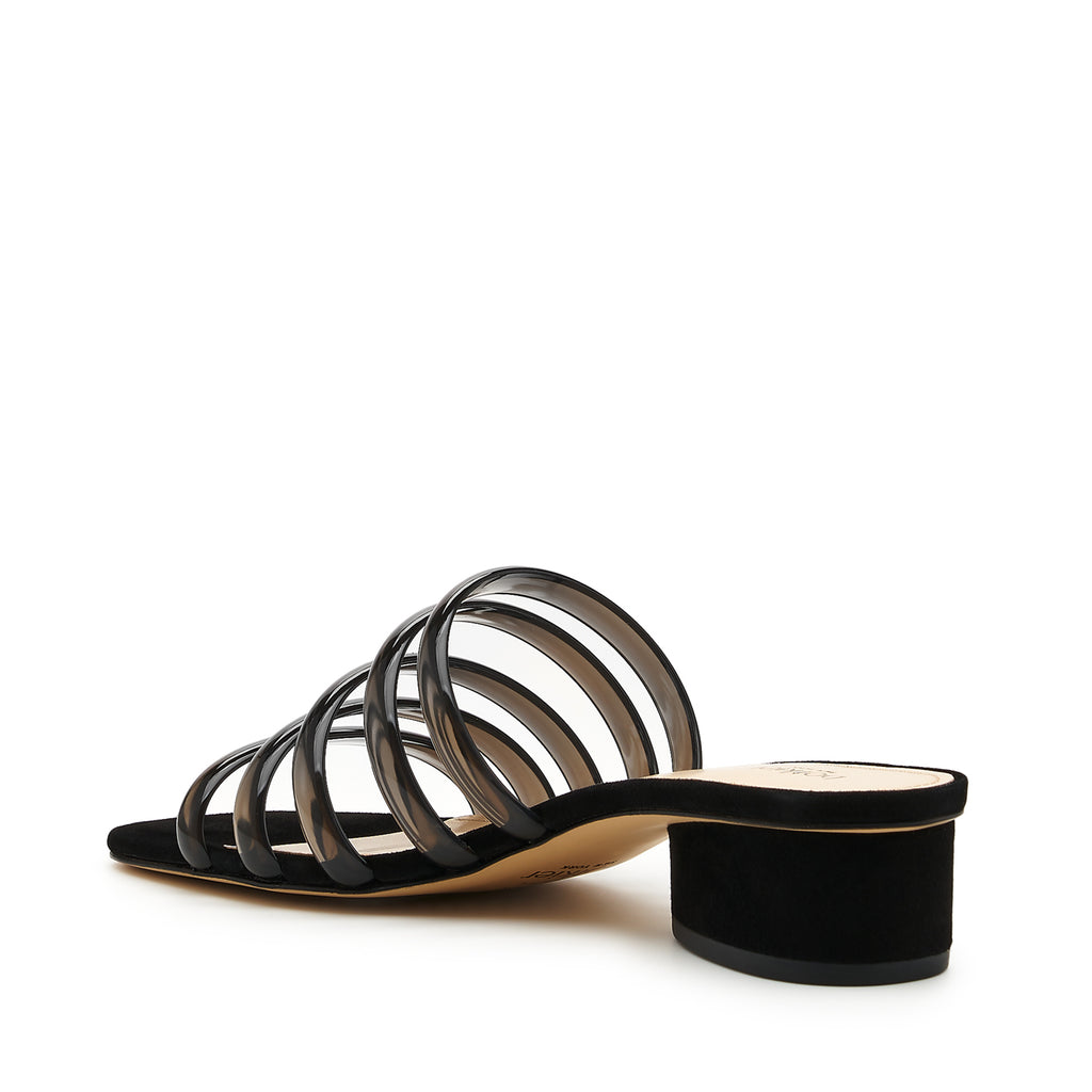 botkier yani slip on sandal in black with black jelly multi straps