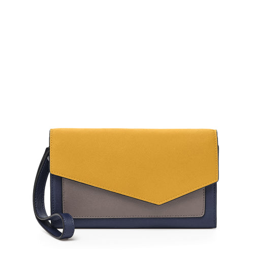 botkier cobble hill wallet in golden combo