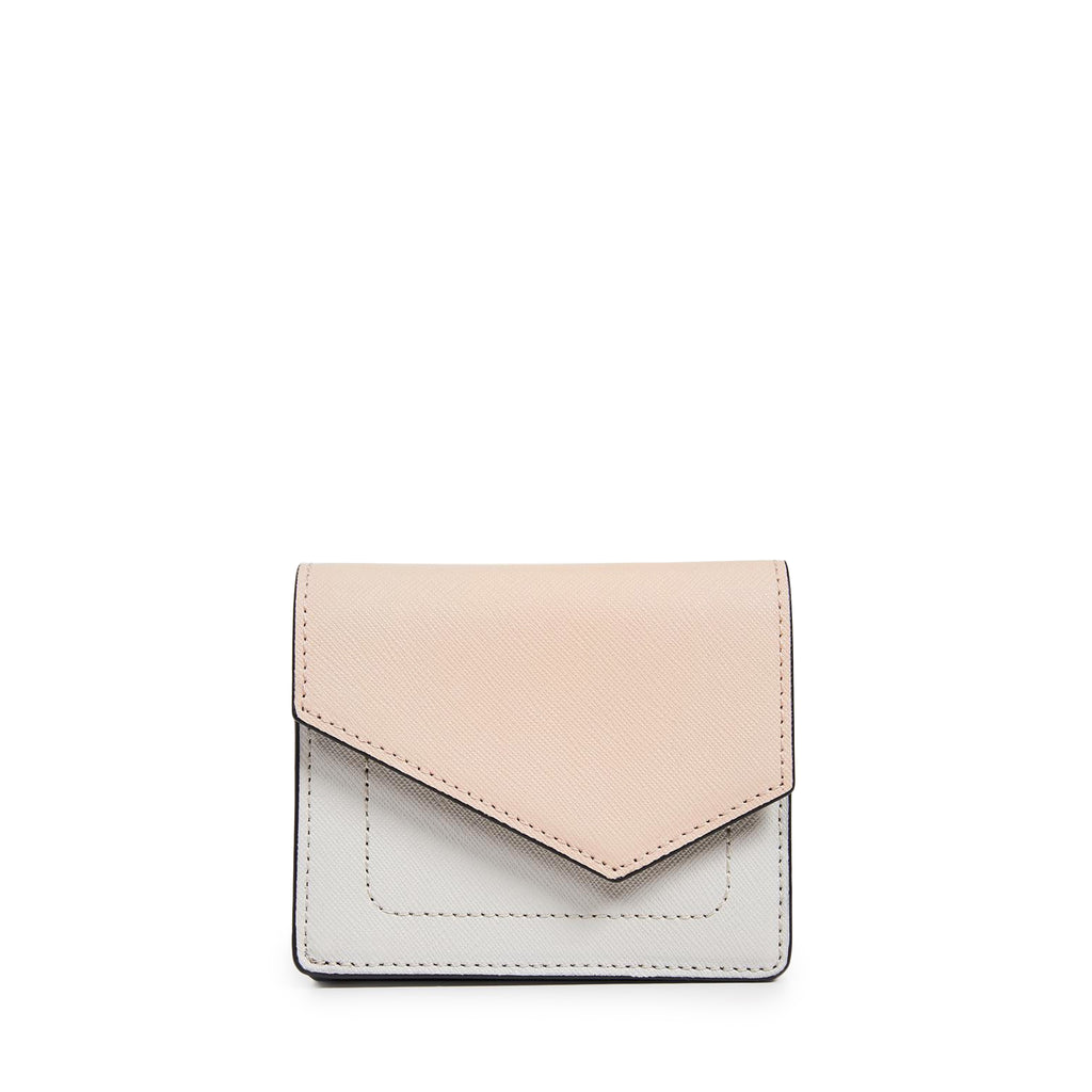 botkier cobble hill mini wallet in nude grey combo