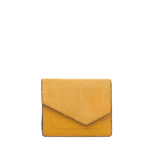 botkier cobble hill mini wallet in golden yellow