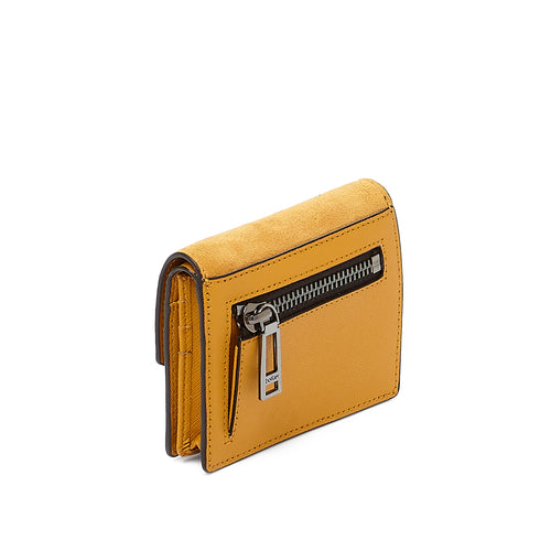 botkier cobble hill mini wallet in golden yellow Alternate View