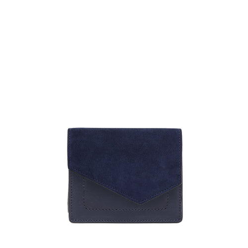 botkier cobble hill mini wallet in winter navy
