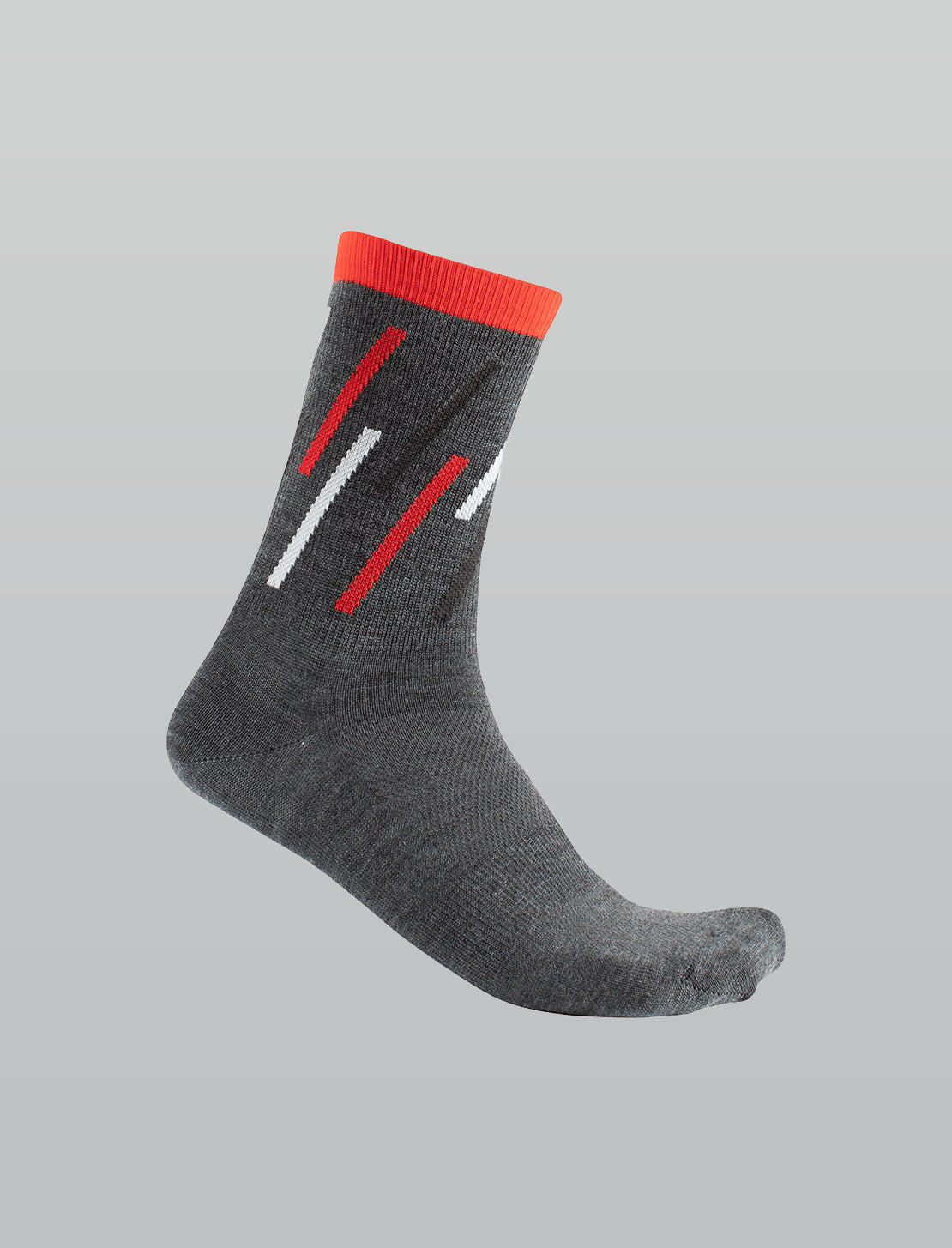 Merino Winter Socks - Charcoal/Fire Red