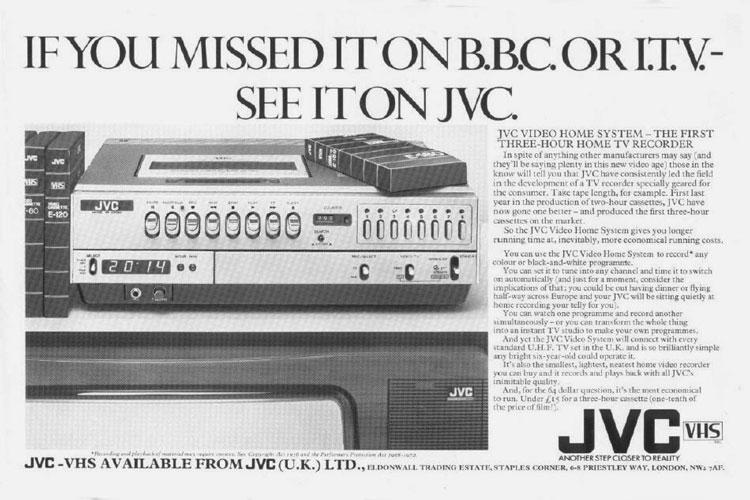 When Did VCR Become Popular?