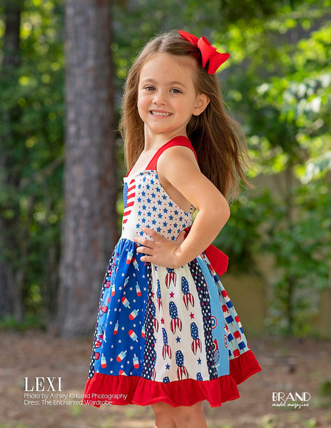 Red, White & Cute! Lexi Kate & the Enchanted Wardrobe in Brand Model Magazine #225